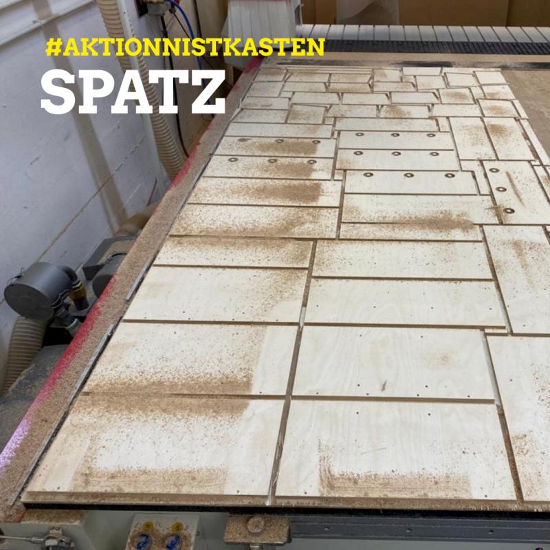 Sperlitz Spatz Holzzuschnit mit CNC Fräse